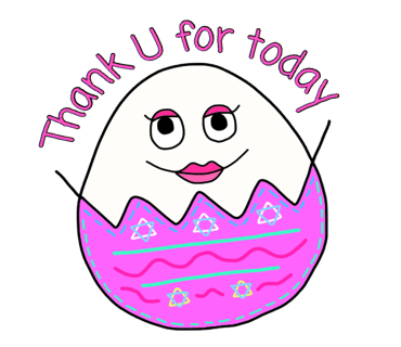Happy Bunny Egg Stickers for Easter Day messages sticker-7