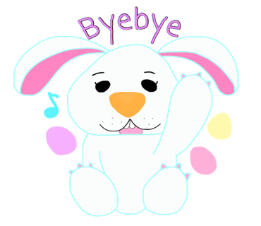 Happy Bunny Egg Stickers for Easter Day messages sticker-6