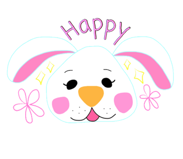 Happy Bunny Egg Stickers for Easter Day messages sticker-8