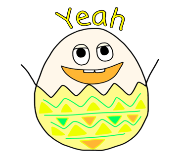 Happy Bunny Egg Stickers for Easter Day messages sticker-9