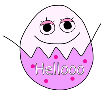 Happy Bunny Egg Stickers for Easter Day messages sticker-1