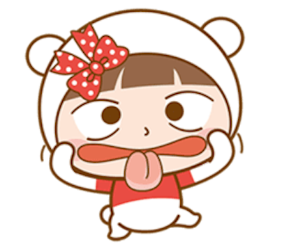 Baby Bear Girl messages sticker-7