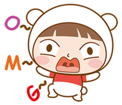 Baby Bear Girl messages sticker-10