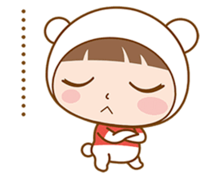 Baby Bear Girl messages sticker-1