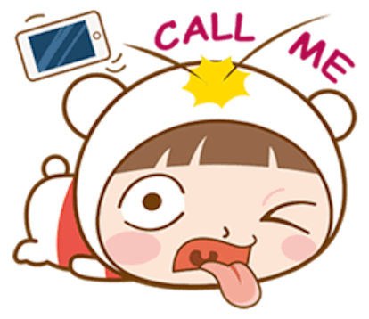 Baby Bear Girl messages sticker-8