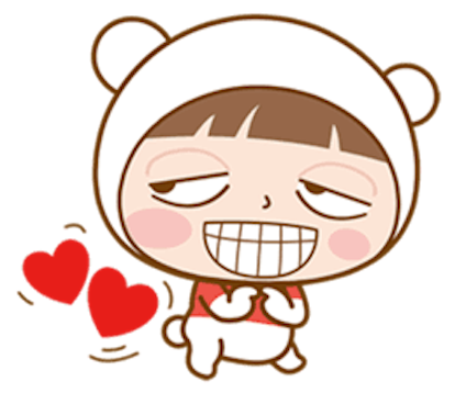 Baby Bear Girl messages sticker-3