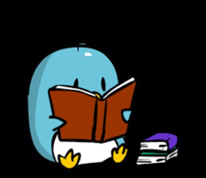 Baby Blue Penguin messages sticker-6