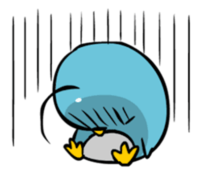 Baby Blue Penguin messages sticker-5