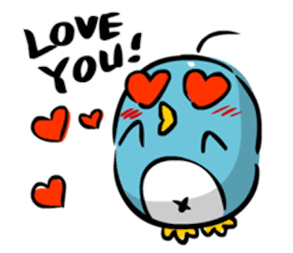 Baby Blue Penguin messages sticker-9