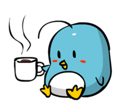 Baby Blue Penguin messages sticker-8