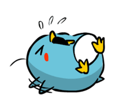 Baby Blue Penguin messages sticker-7