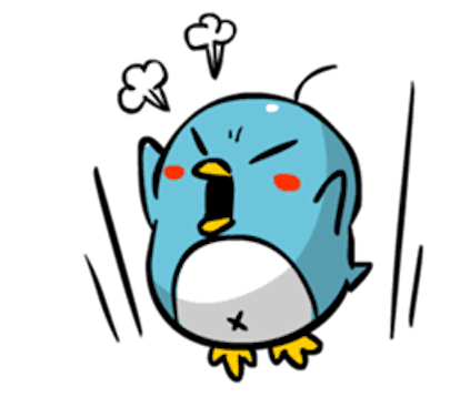 Baby Blue Penguin messages sticker-0