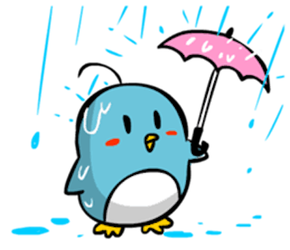Baby Blue Penguin messages sticker-3