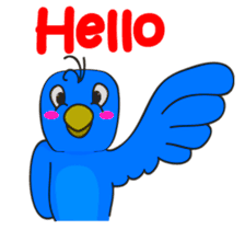 Blue Bird Stickers messages sticker-8