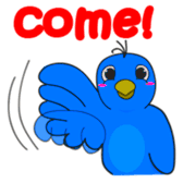Blue Bird Stickers messages sticker-1