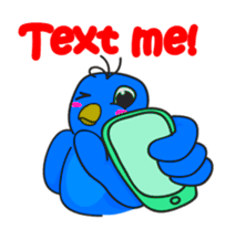 Blue Bird Stickers messages sticker-4