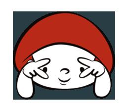 Mushroom Man Stickers messages sticker-3
