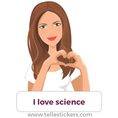 Telle stickers - March for science, Kate messages sticker-2