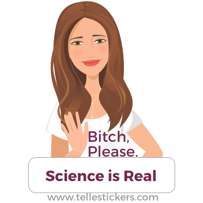 Telle stickers - March for science, Kate messages sticker-4