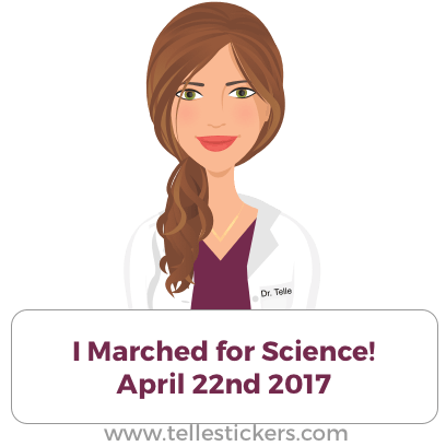 Telle stickers - March for science, Kate messages sticker-7