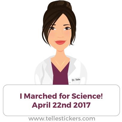 Telle stickers - March for science, Donna messages sticker-7