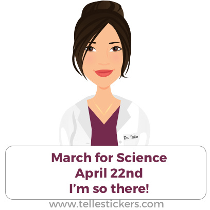 Telle stickers - March for science, Donna messages sticker-1