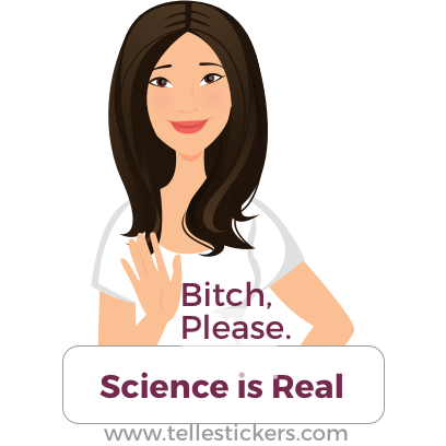Telle stickers - March for science, Donna messages sticker-4