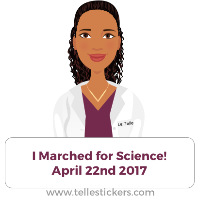 Telle stickers - March for science, Eva messages sticker-7