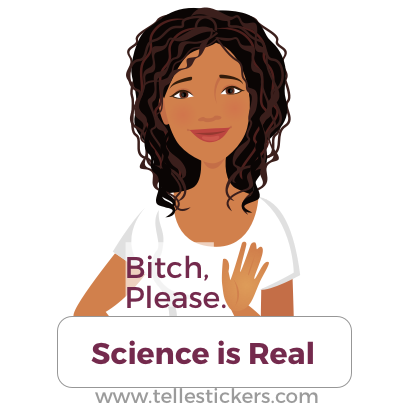 Telle stickers - March for science, Eva messages sticker-4