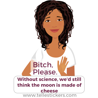 Telle stickers - March for science, Eva messages sticker-8