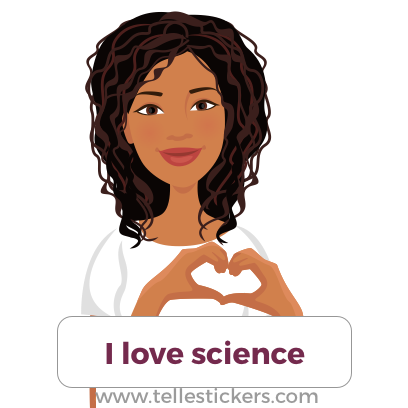 Telle stickers - March for science, Eva messages sticker-2