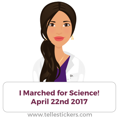 Telle stickers - March for science, Lilly messages sticker-7