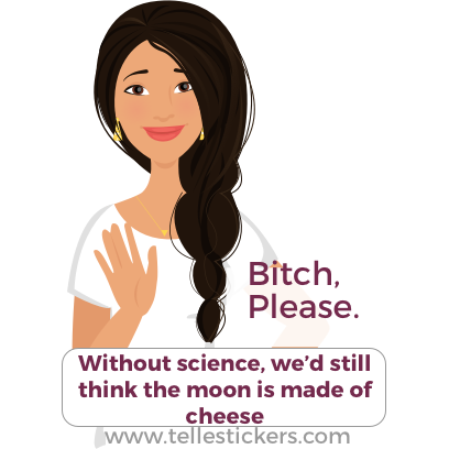Telle stickers - March for science, Lilly messages sticker-8