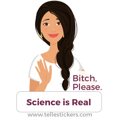 Telle stickers - March for science, Lilly messages sticker-4