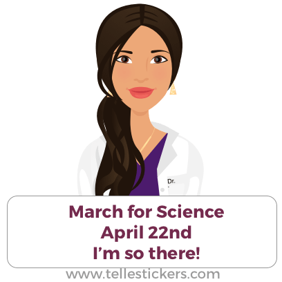 Telle stickers - March for science, Lilly messages sticker-1