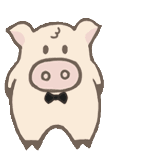 Toto Pig - Adorable Piggy Couple Animated Stickers messages sticker-2