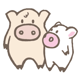 Toto Pig - Adorable Piggy Couple Animated Stickers messages sticker-8