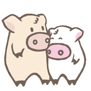 Toto Pig - Adorable Piggy Couple Animated Stickers messages sticker-7