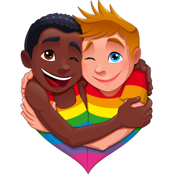 GAYJI - Gay Pride LGBT Emoji for iMessage messages sticker-0