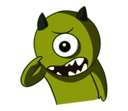 Cyclop Emoji messages sticker-10
