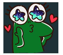 Big Eyed Frog messages sticker-3