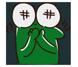 Big Eyed Frog messages sticker-1
