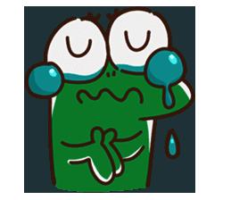 Big Eyed Frog messages sticker-11
