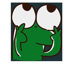 Big Eyed Frog messages sticker-10