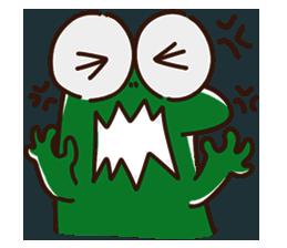 Big Eyed Frog messages sticker-2