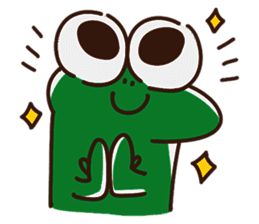 Big Eyed Frog messages sticker-0