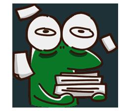 Big Eyed Frog messages sticker-7
