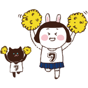 Cool girl Rabbitami messages sticker-8