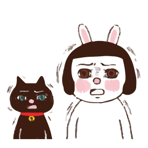 Cool girl Rabbitami messages sticker-9