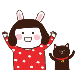Cool girl Rabbitami messages sticker-0